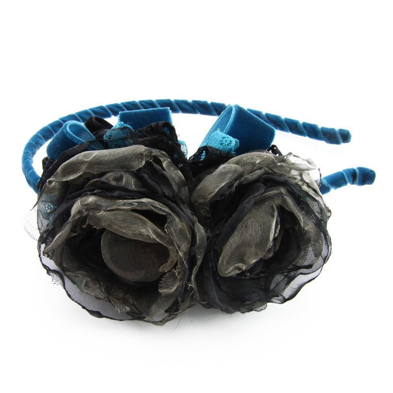Matu stīpiņa (Zila stīpiņa ar tumšiem ziediņiem)