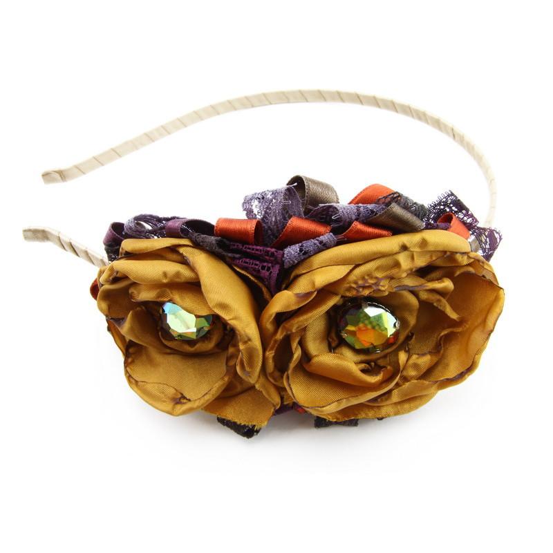 Matu stīpiņa (Brūniem ziediņiem, krēmkrāsas lentas stīpiņa)