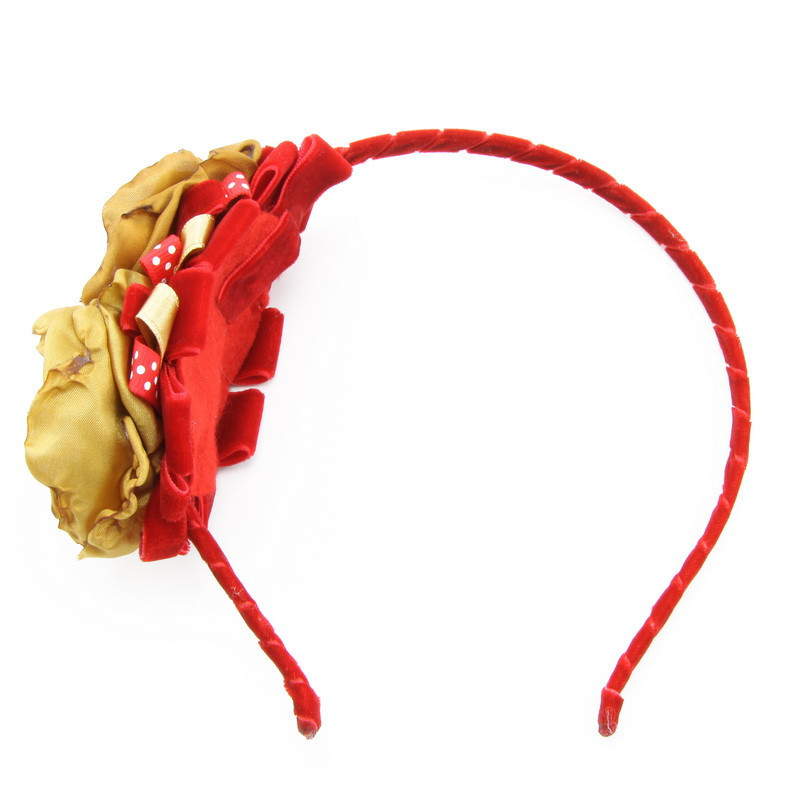Matu stīpiņa (Sarkana stīpiņa ar zeltainiem ziediņiem)