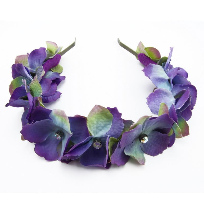 Matu stīpiņa (Violetiem hortenzijas ziediņiem)