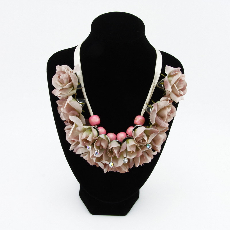 Necklace (Pink flowers with...