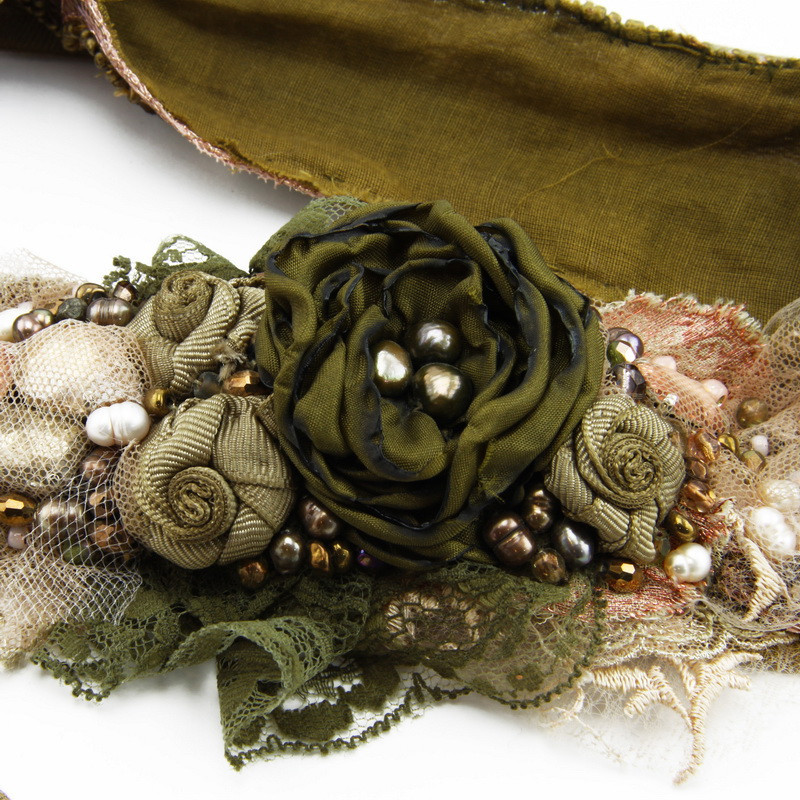 Belt (Dark green flower...