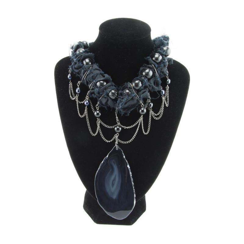 Necklace (Black Agate,...
