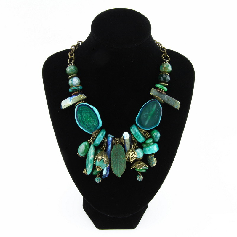 Necklace (Green, dark blue,...