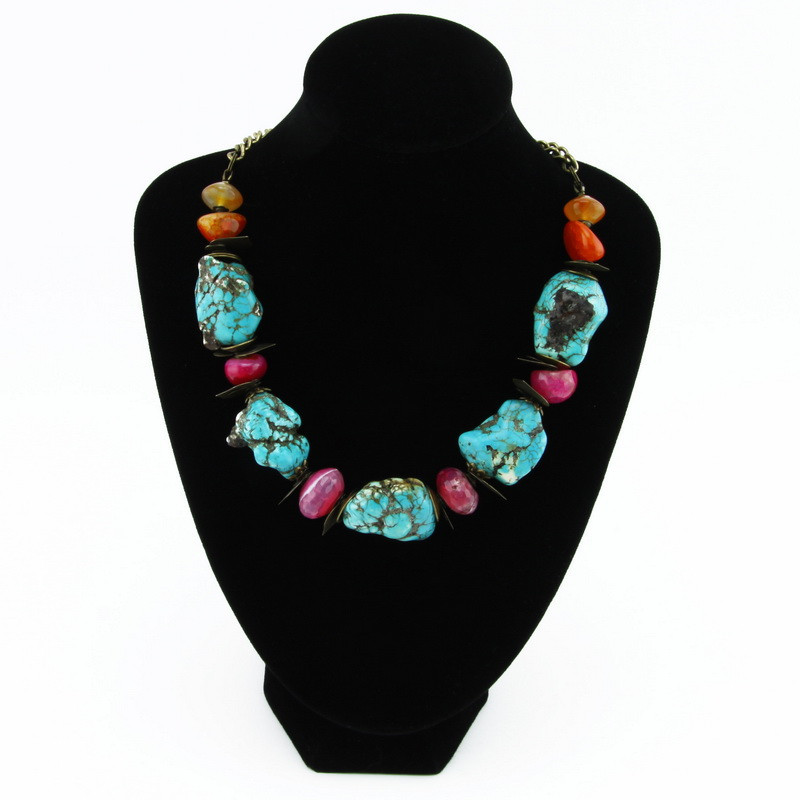 Necklace (Blue, pink,...