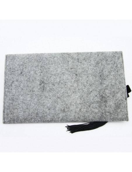 Hand bag (Gray felt with...