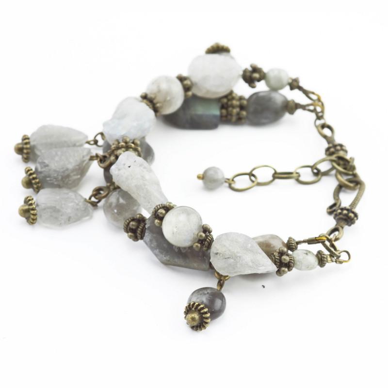 Bracelet (Grey labradorite,...