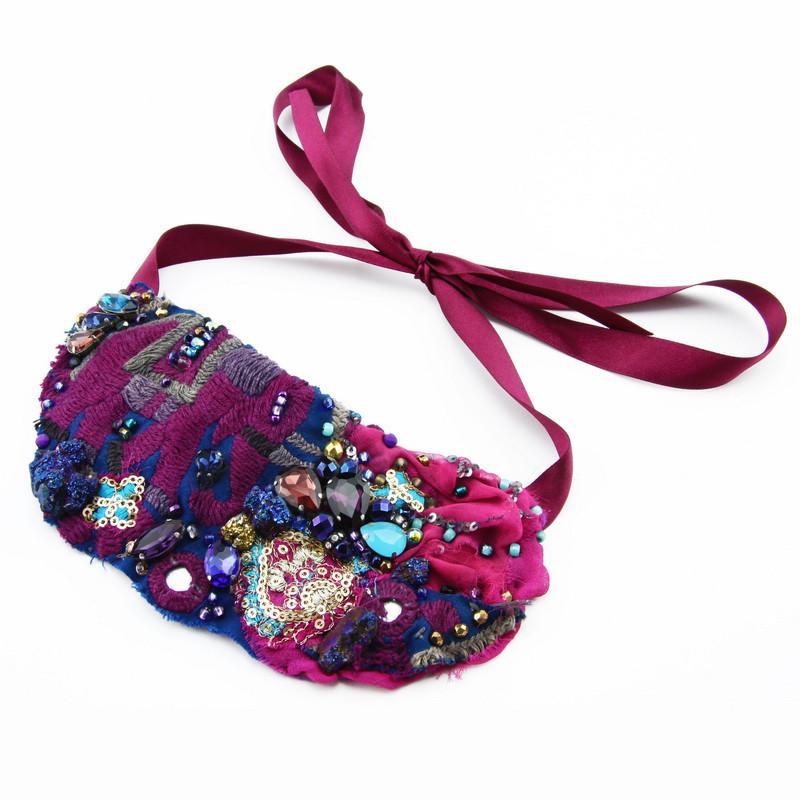 Necklace (violet felt...