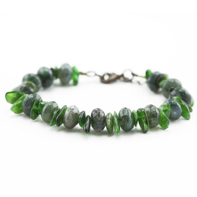 Bracelet (Green agate)