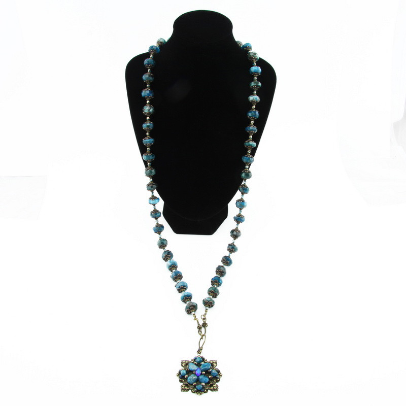 Necklace (Blue Apatite in...