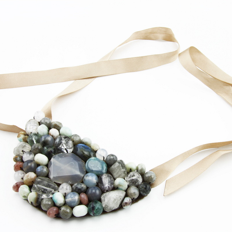 Necklace (Gray, brown,...