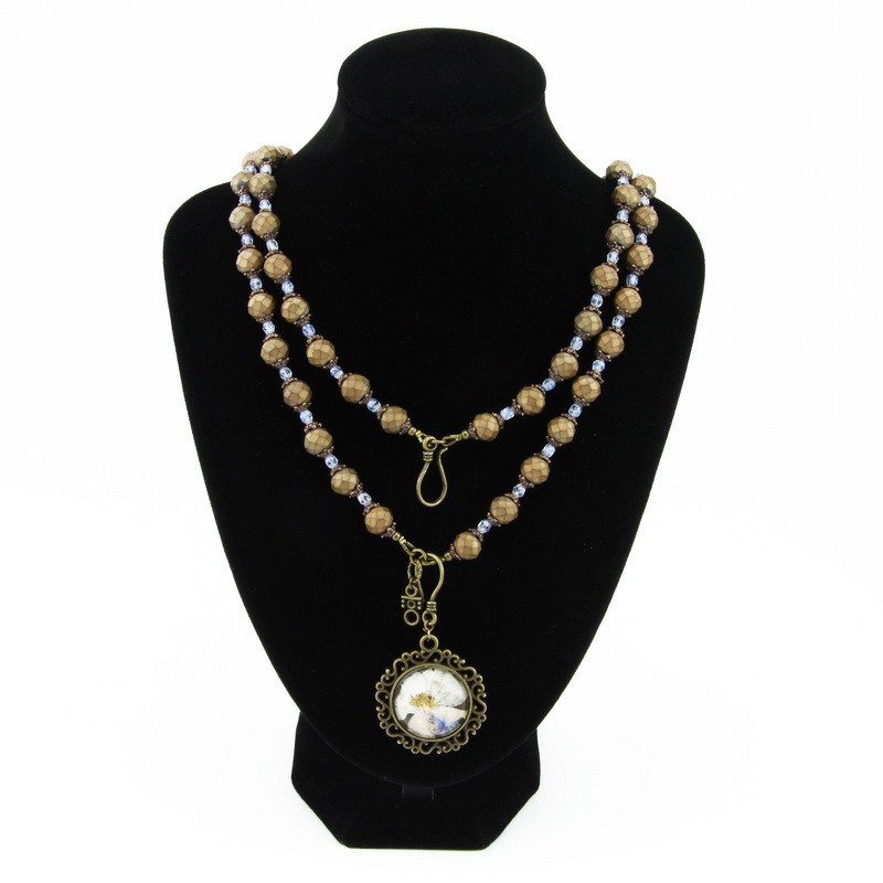 Necklace (Brown stones with...
