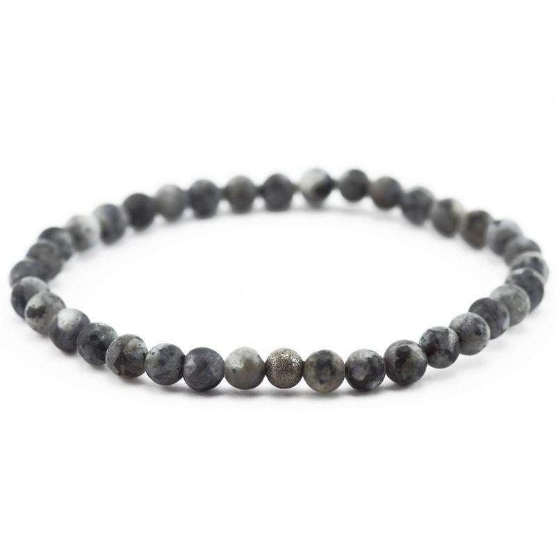 Bracelet (gray labradorite...
