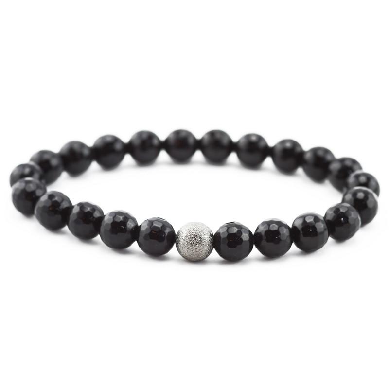 Bracelet (Black agate with...