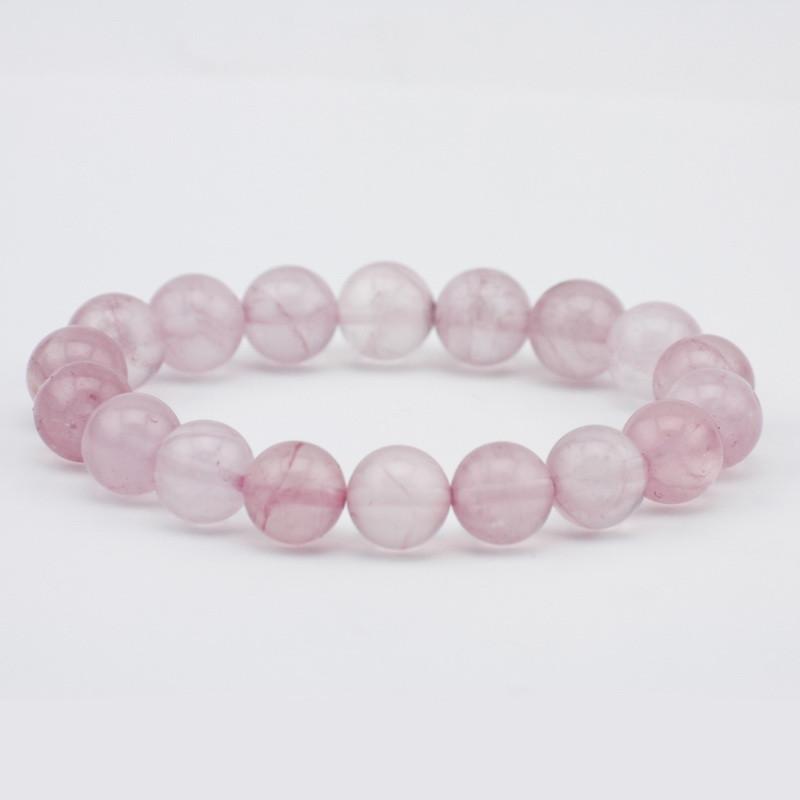 Elastic bracelet (pink quartz)