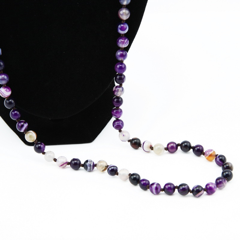 Necklace (Violet Agate)