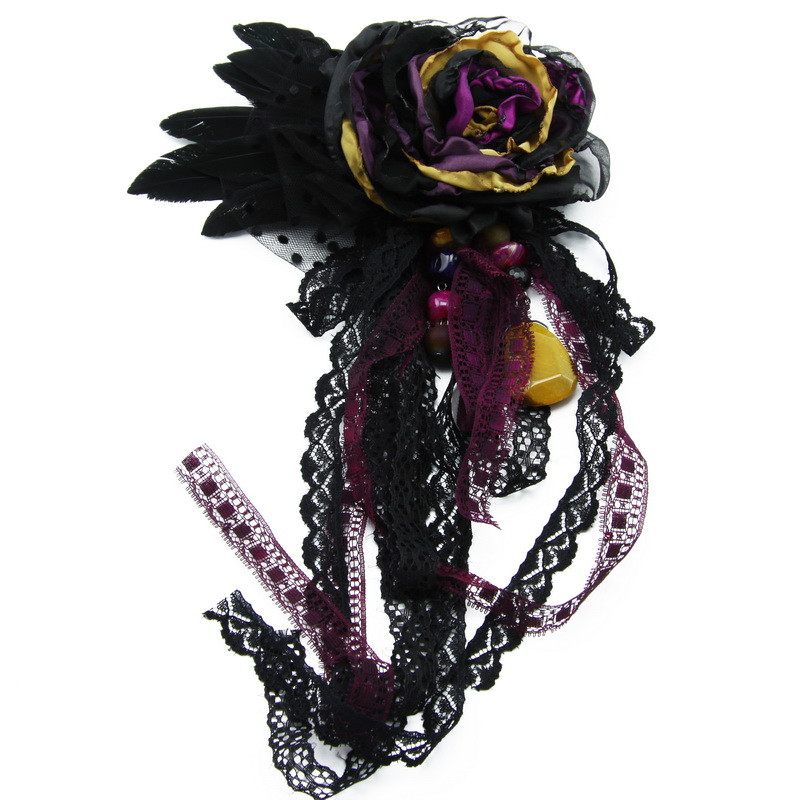 Set of brooch (black,...