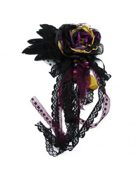 Set of brooch (black,...
