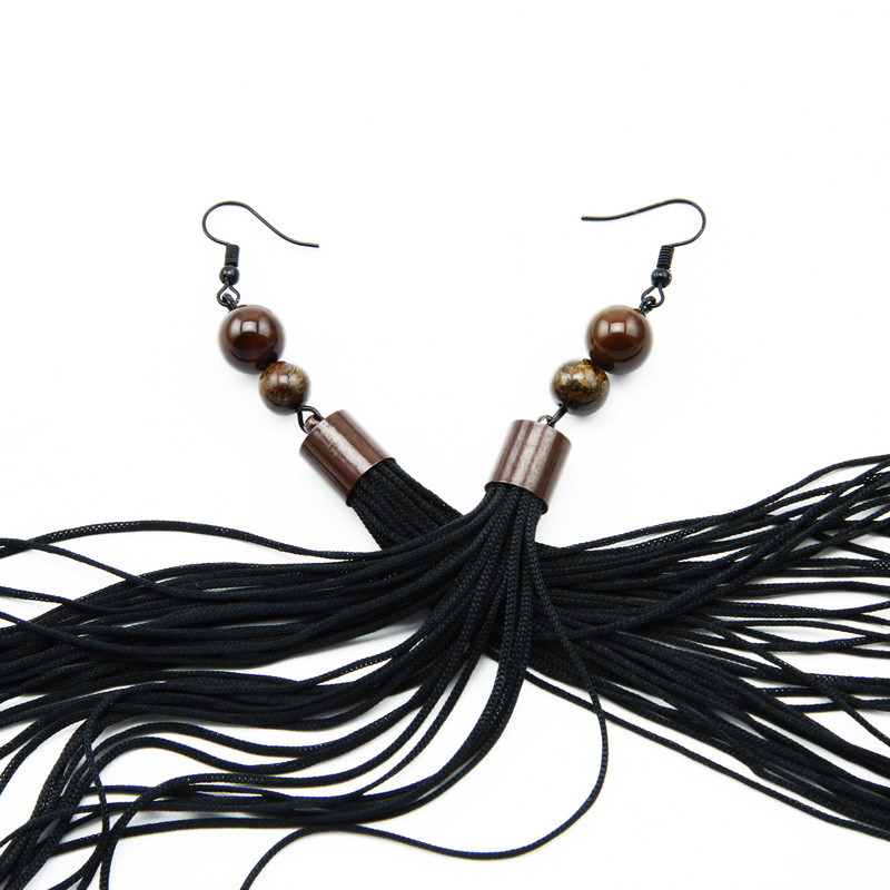 Earings (Brown agate,...
