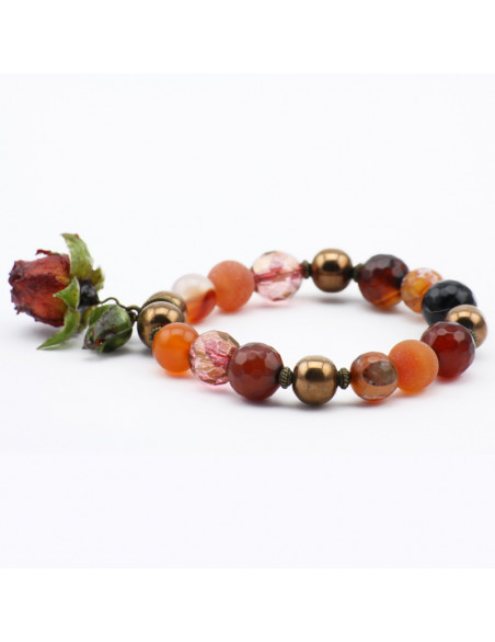 Bracelet with brown agate