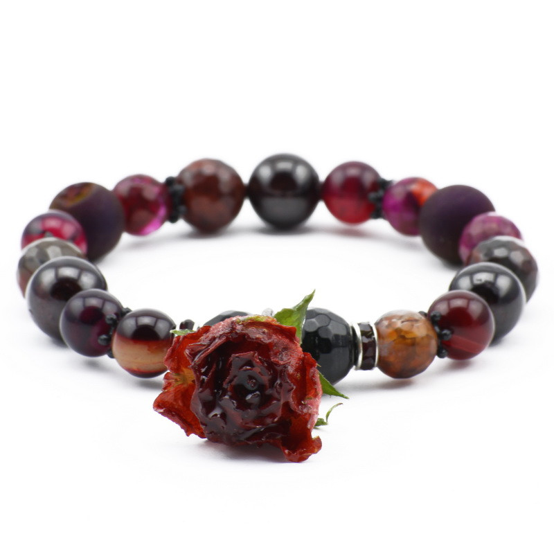 Bracelet with Dark pink and...