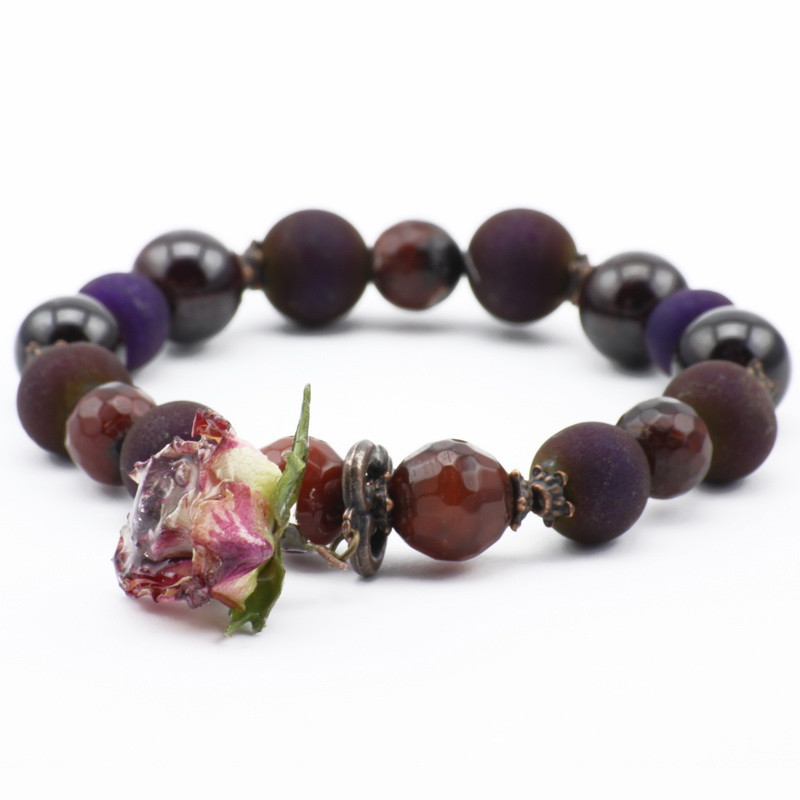 Bracelet with Purple and...