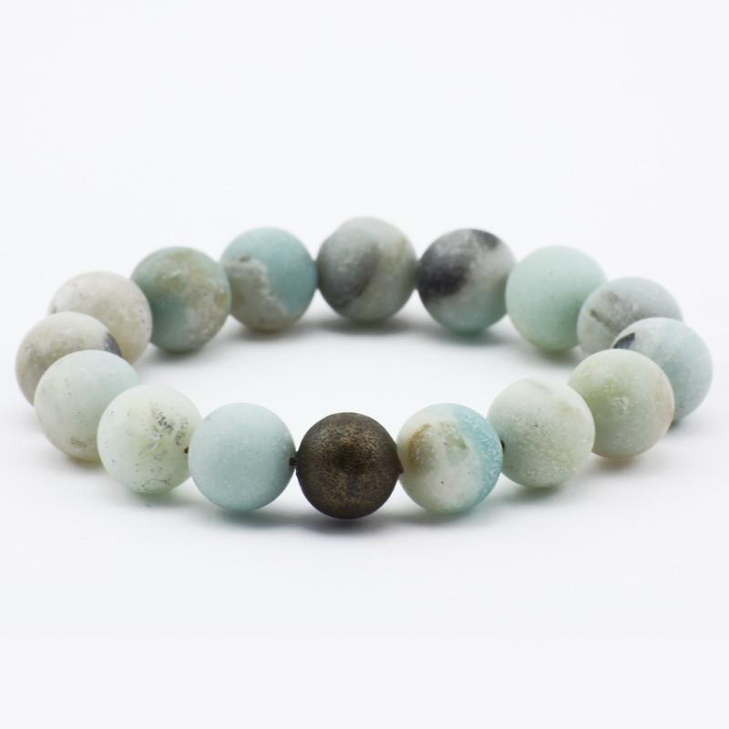 Bracelet with amazonite