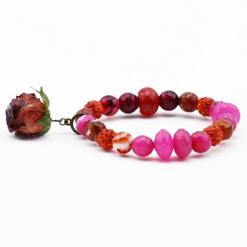 Bracelet with Pink, orange,...
