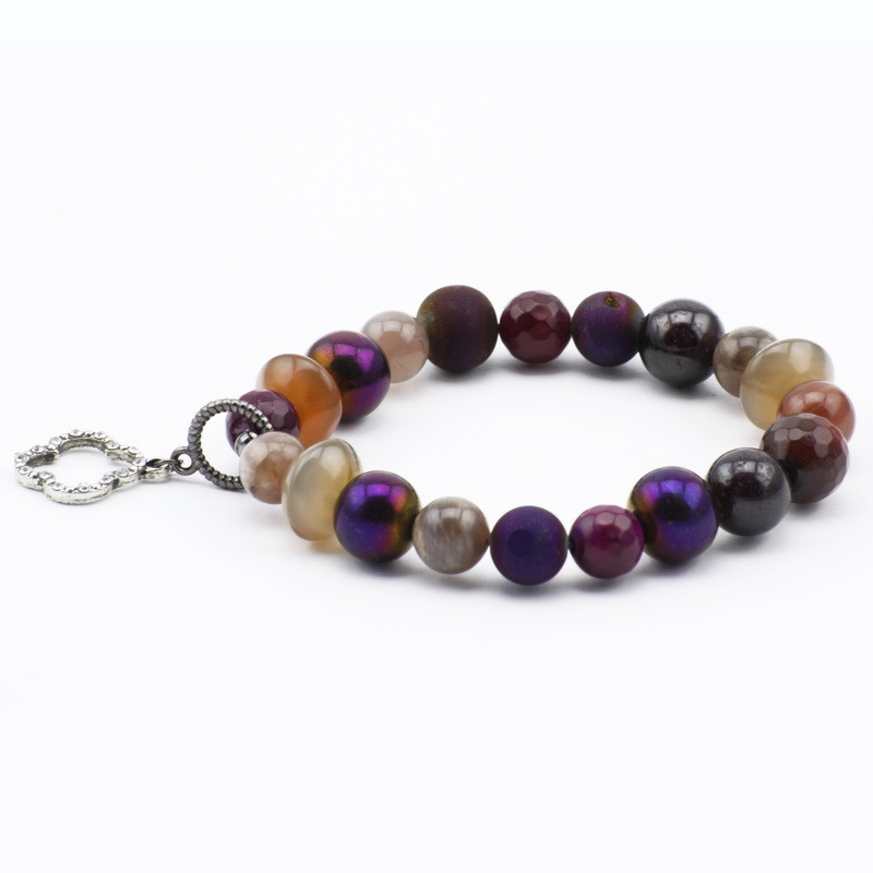 Bracelet with agate,...