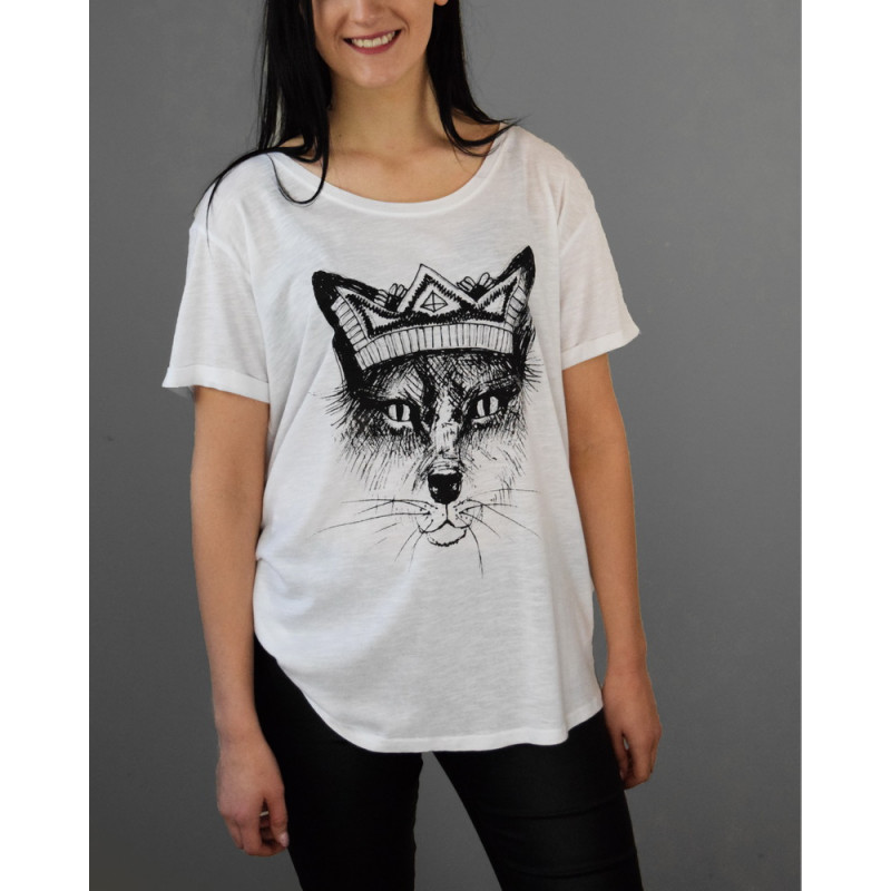 """T-shirt """"Fox with crown"""""""