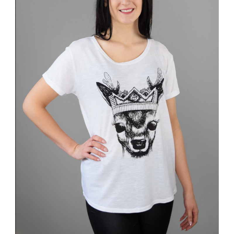 """T-shirt """"Deer with crown"""""""