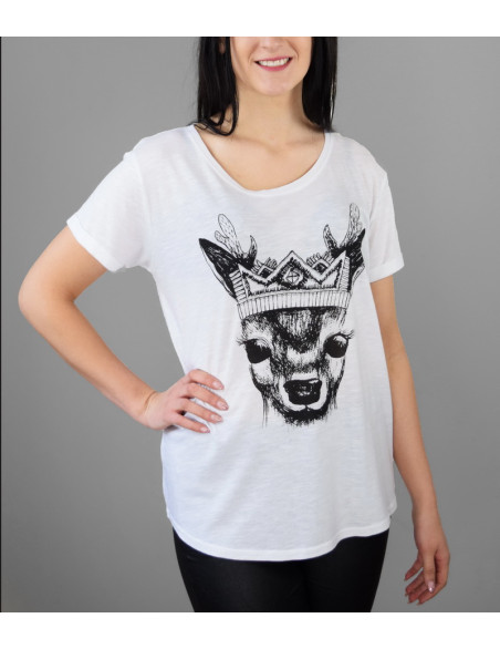 "T-shirt ""Deer with crown"""