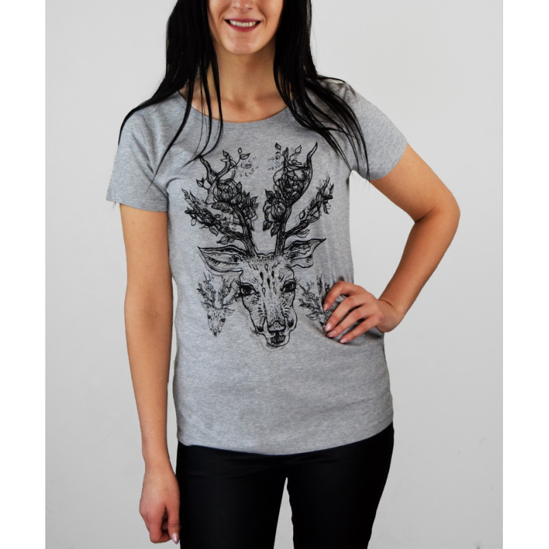 """T-shirt """"Deer with flowers"""""""