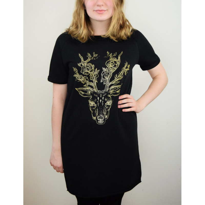 """TUNIC ''DEER WITH FLOWERS"""""""