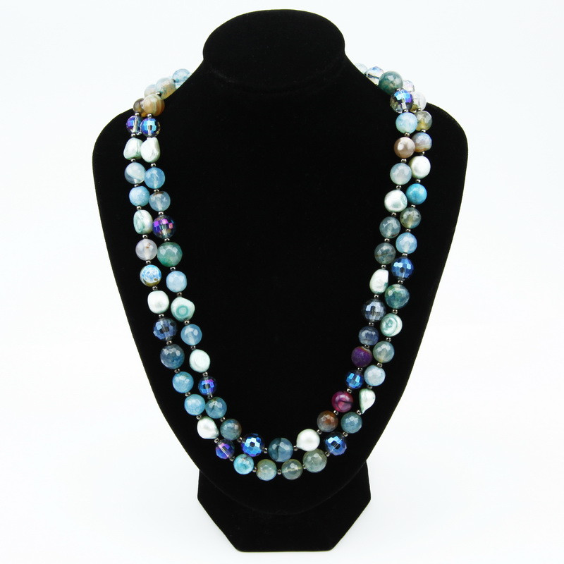 Necklace with Light Blue Agate