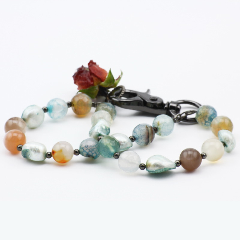 Blue Agate Bracelet with...