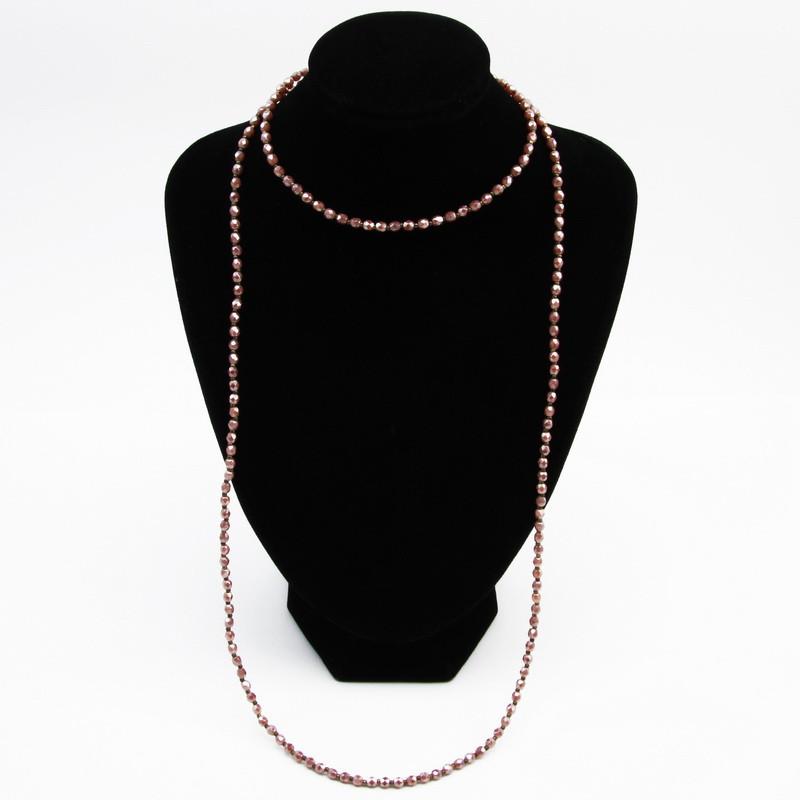 Pink Czech Glass Bead Necklace