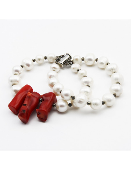 Double Bracelet with White...