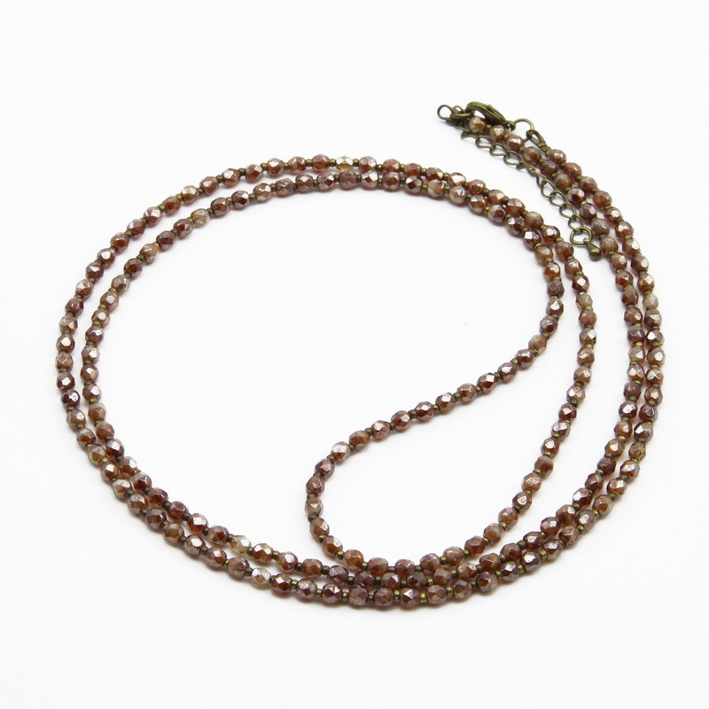 Necklace with Brown Crystals