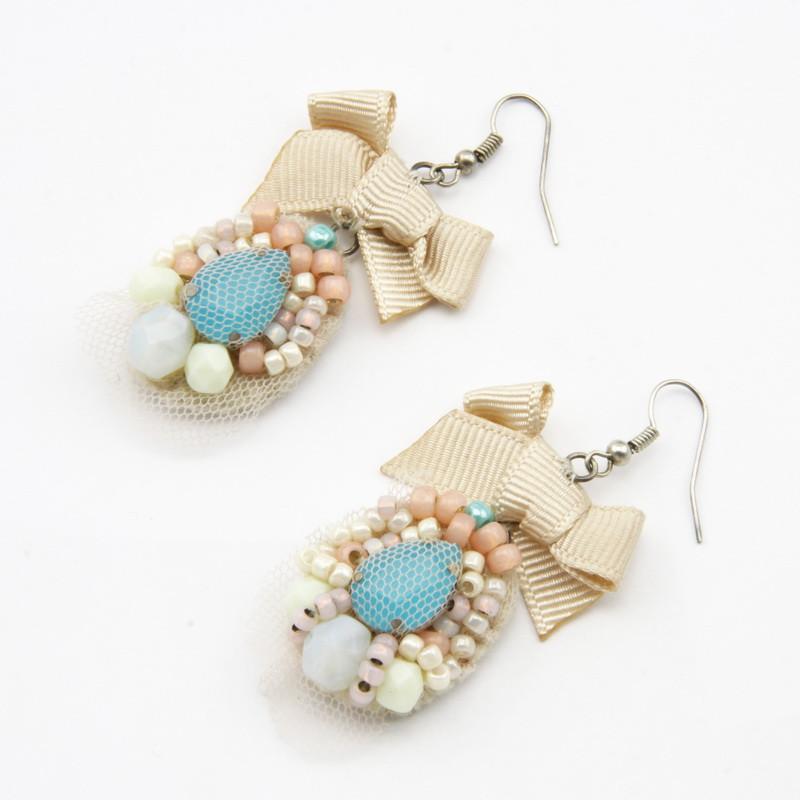 Light Earrings with Czech...