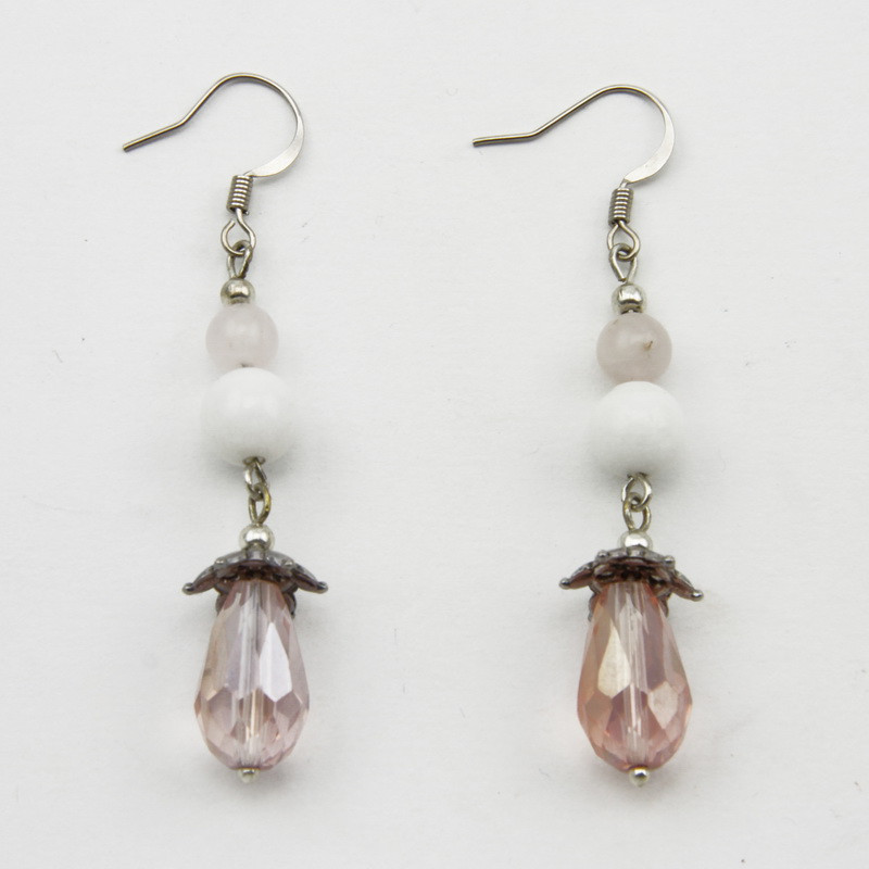 Earrings with Rose Quartz...