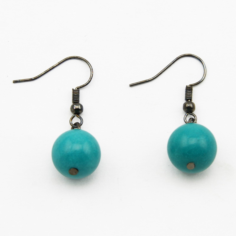 Earrings with Turquoise Beads
