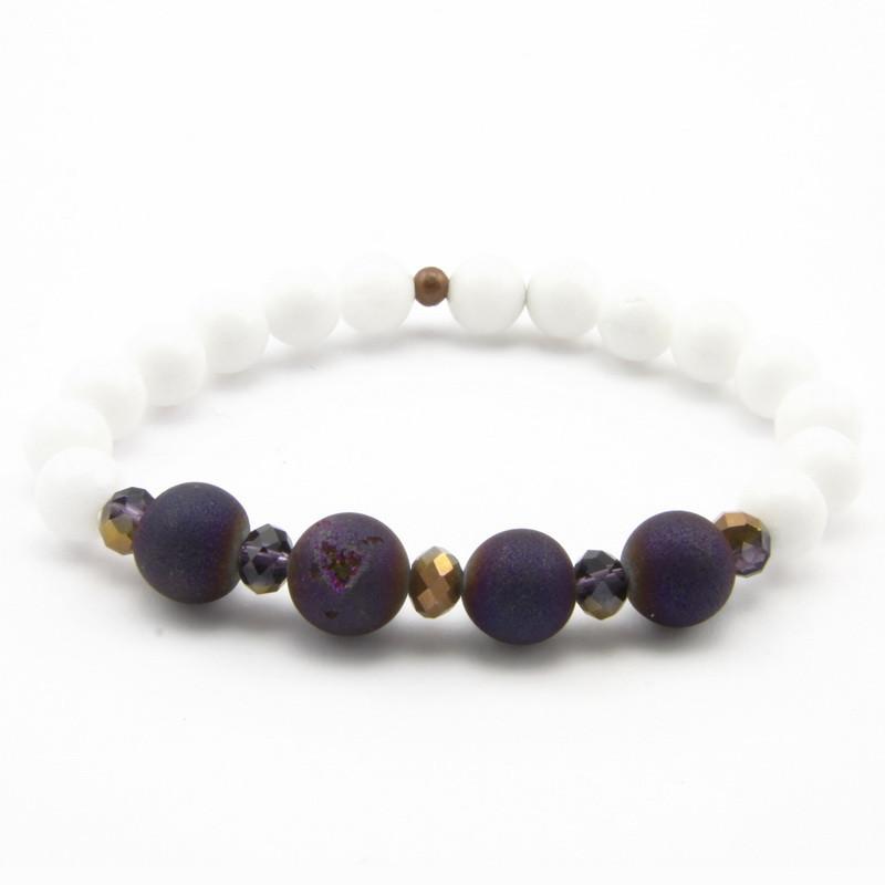 White Jade and Purple Agate...