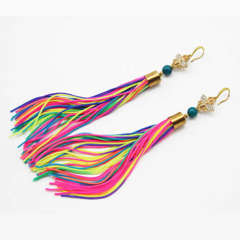 Colorful Tassel and...