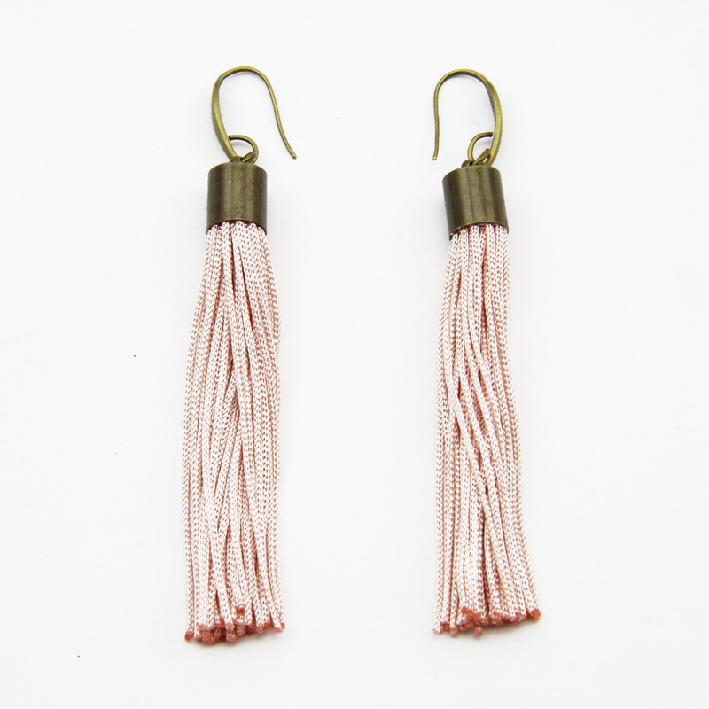 Light Pink Tassel Earrings...