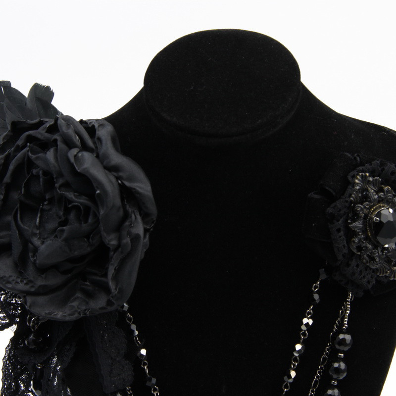 Brooches with Black Tulle...