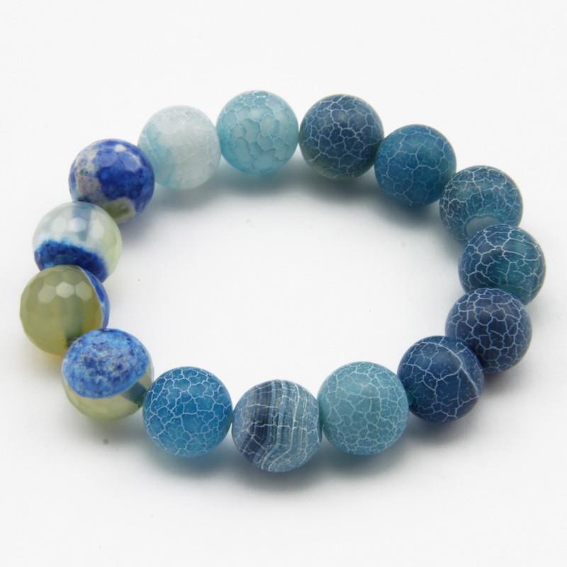 Blue Agate Elastic Bracelet...