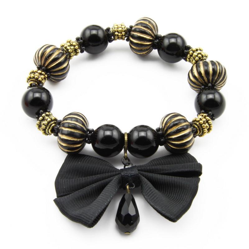 Black Agate Elastic...