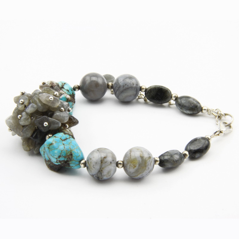 labradorite, howlite and...