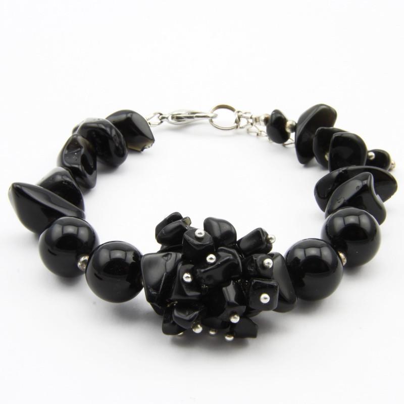 black onyx bracelet with...